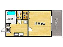 セントリ−フ南片江[1階]の間取り