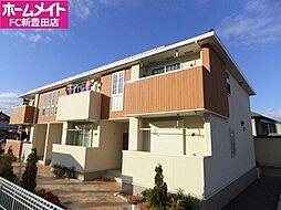 愛知県みよし市三好町大坪の賃貸アパートの外観