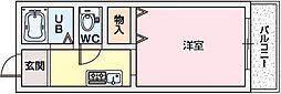 フラットAZ[2階]の間取り