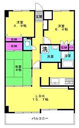 ライオンズマンション東加古川[503号室]の間取り