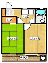 新田宝コーポ[103号室]の間取り