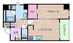 JR東海道・山陽本線 千里丘駅 徒歩6分の賃貸マンション 4階1LDKの間取り