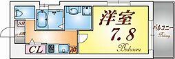 ワコーレヴィータ神戸上沢通[3階]の間取り