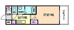 プレサンス大阪福島シエル[8階]の間取り