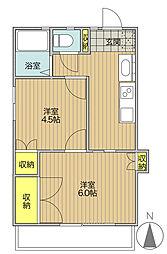 T-net 東野荘II[203号室]の間取り