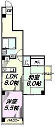 東京都八王子市西浅川町の賃貸マンションの間取り