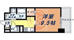 Osaka Metro四つ橋線 花園町駅 徒歩13分の賃貸マンション 6階1Kの間取り