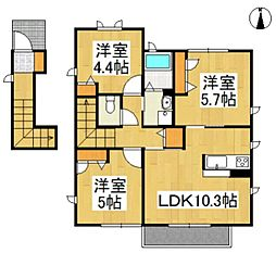 楢村アパート[2階]の間取り