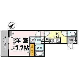 (仮)D-room美園3丁目 3階1Kの間取り