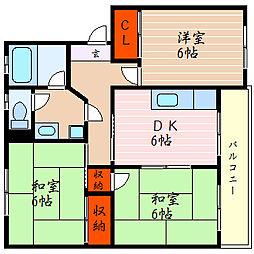 滋賀県彦根市芹川町の賃貸マンションの間取り