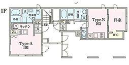 JR中央線 阿佐ヶ谷駅 徒歩13分の賃貸マンション 1階ワンルームの間取り