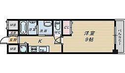 住吉橋TKハイツ[4階]の間取り