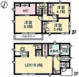 [一戸建] 岡山県倉敷市笹沖 の賃貸【/】の間取り