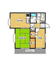 神奈川県横浜市港南区上大岡東1丁目の賃貸アパートの間取り