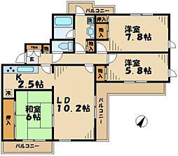 クローバーハイツ[4階]の間取り