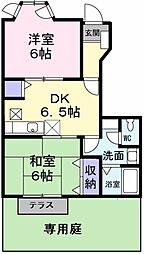 ペリプエストI番館[2階]の間取り