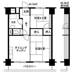 中原第2[6階]の間取り