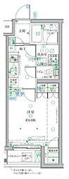 小田急小田原線 祖師ヶ谷大蔵駅 徒歩3分の賃貸マンション 3階1Kの間取り