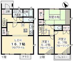 [テラスハウス] 神奈川県川崎市麻生区金程3丁目 の賃貸【/】の間取り
