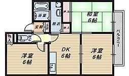大阪府泉大津市綾井の賃貸アパートの間取り