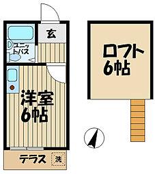 カーサ鎌倉台[110号室]の間取り
