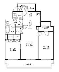 サンクタス川崎タワー[1106号室]の間取り