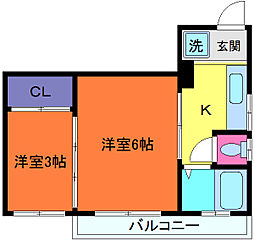 さつきマンション[5階]の間取り