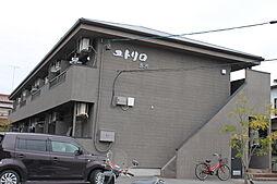 愛知県岡崎市赤渋町字上池の賃貸アパートの外観