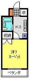 ヨコハマポートマンション[203号室]の間取り