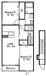 ヴィータ21[2階]の間取り