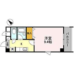 プレジデント21[5階]の間取り