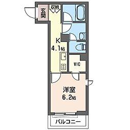 仮)大田区南馬込1丁目シャーメゾン 3階1Kの間取り