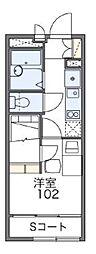 JR南武線 中野島駅 徒歩10分の賃貸アパート 1階1Kの間取り