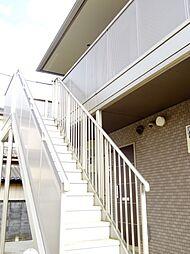 茨城県筑西市下岡崎2丁目の賃貸アパートの外観