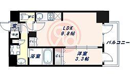 Osaka Metro御堂筋線 昭和町駅 徒歩3分の賃貸マンション 6階1LDKの間取り