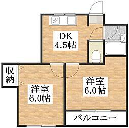 サンライフ平野[2階]の間取り