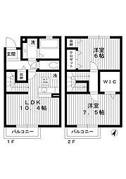 [テラスハウス] 東京都中野区上鷺宮1丁目 の賃貸【/】の間取り