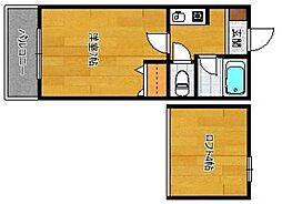 エスペランス干隈[2階]の間取り