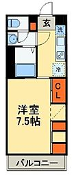 JR鹿児島本線 吉塚駅 徒歩9分の賃貸マンション 3階1Kの間取り