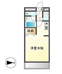 後関マンション 2[2階]の間取り