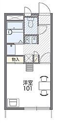 新潟県新発田市西園町1丁目の賃貸アパートの間取り