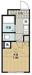 (仮称)西東京市富士町5丁目新築アパート 2階1Kの間取り