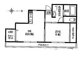 東京都青梅市河辺町4丁目の賃貸マンションの間取り