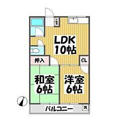 サクラ東山マンション[3階]の間取り