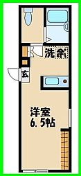 小田急小田原線 千歳船橋駅 徒歩3分の賃貸マンション 1階1Kの間取り