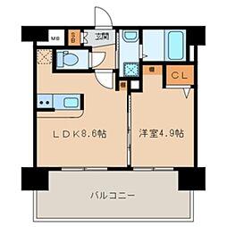 三島マンション博多駅東[5階]の間取り