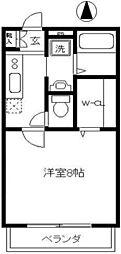 グリーンTAMAGAWA[106号室]の間取り