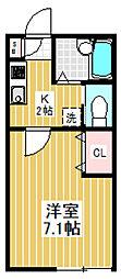 東京都新宿区西新宿8丁目の賃貸アパートの間取り