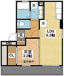 長崎県長崎市西山3丁目の賃貸アパートの間取り