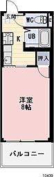 愛知県豊川市為当町石田の賃貸アパートの間取り